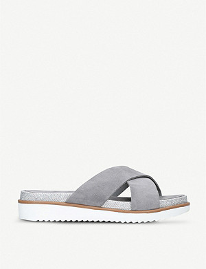 CARVELA Kream metallic and suede sliders