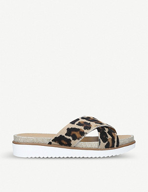 CARVELA Kream calf-hair sliders