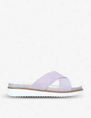CARVELA Kream suede sliders