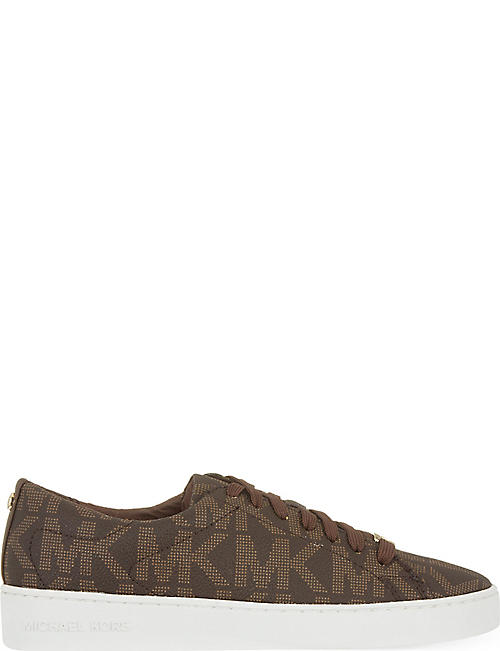 MICHAEL MICHAEL KORS: Keaton logo-embossed leather trainers