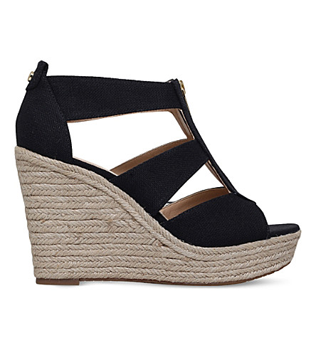 9331ea0cc10 MICHAEL MICHAEL KORS Damita espadrille wedge sandals (Black