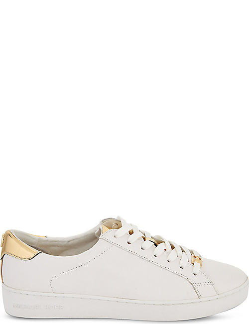 MICHAEL MICHAEL KORS: Irving leather trainers