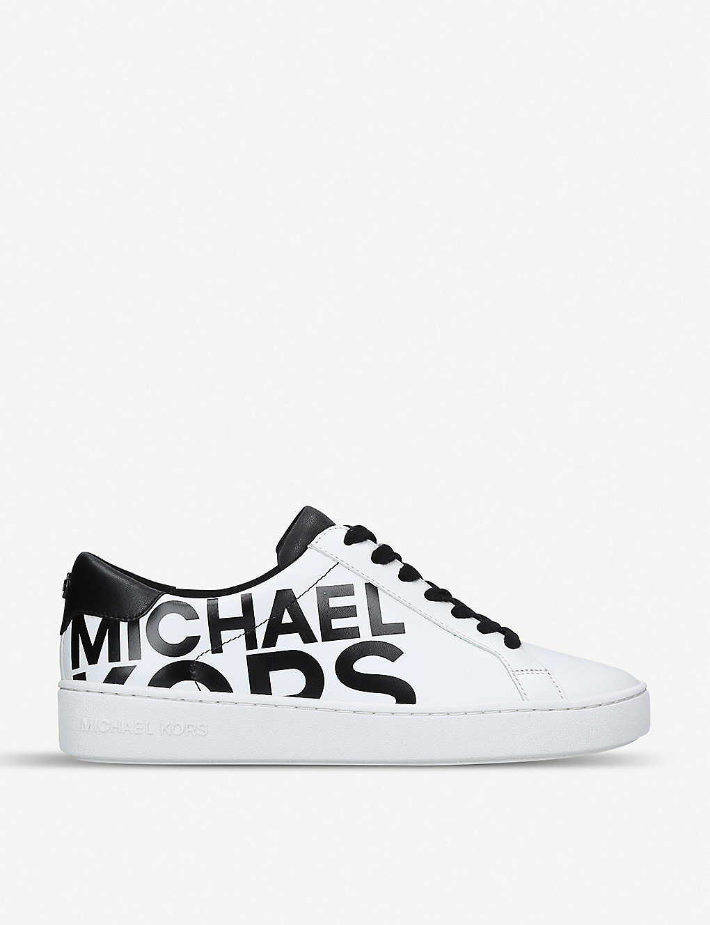 d902da98b279 MICHAEL MICHAEL KORS - Irving logo-print leather trainers ...