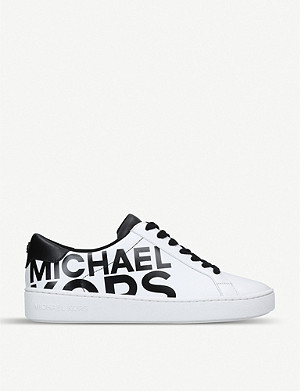 MICHAEL MICHAEL KORS Irving logo-print leather trainers