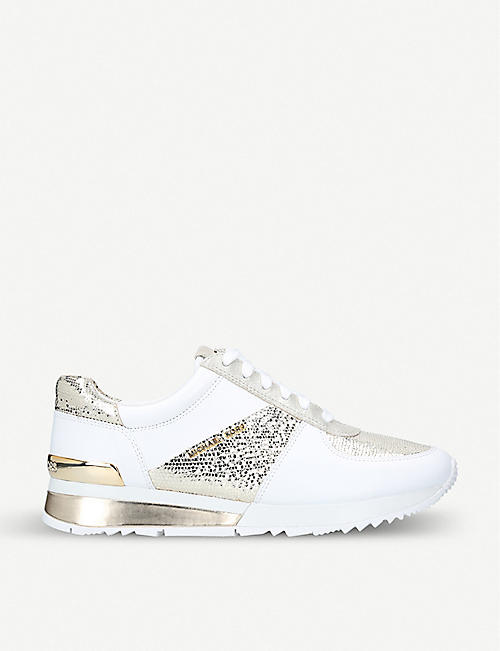 8d344d970852 MICHAEL MICHAEL KORS - Allie sequin and leather sneakers ...