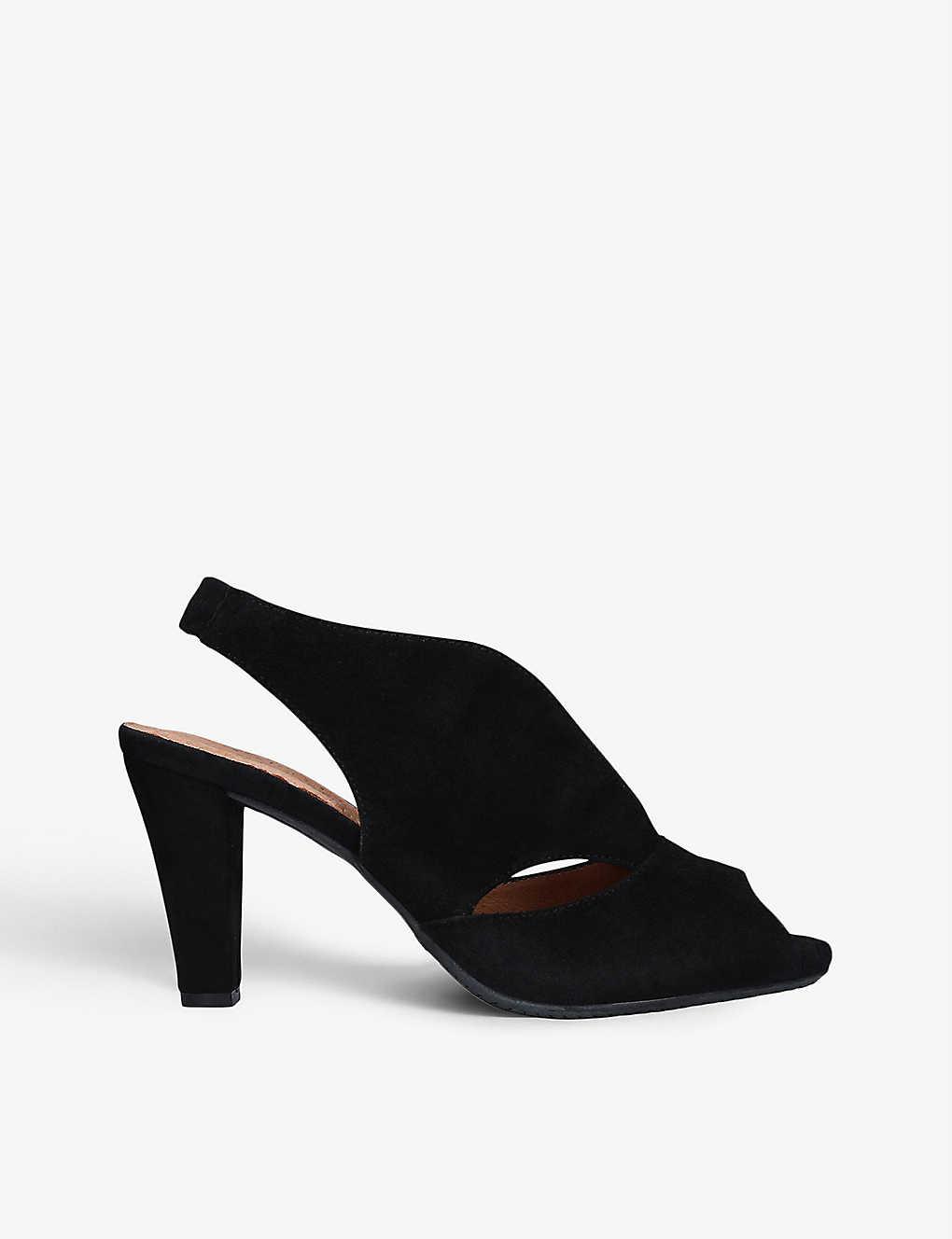 6e67d3b079 CARVELA COMFORT - Arabella cutout heeled suede sandals | Selfridges.com