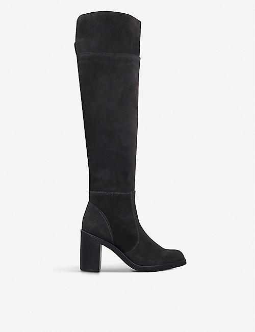 KG KURT GEIGER: Tring suede over-the-knee boots