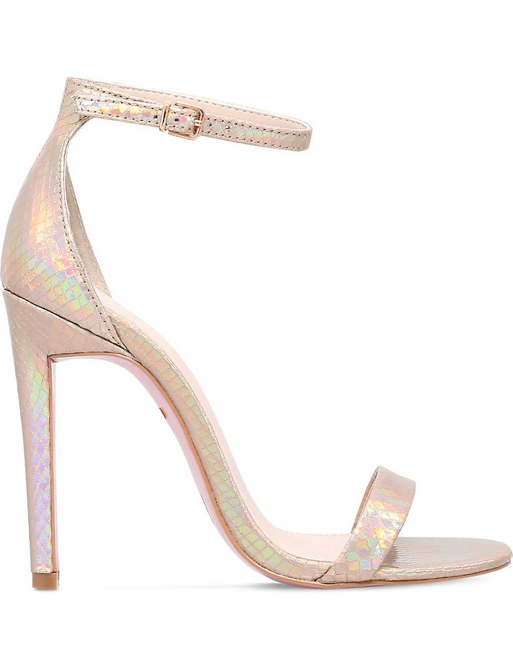 d32fd7005f CARVELA - Gatsby metallic heeled sandals | Selfridges.com