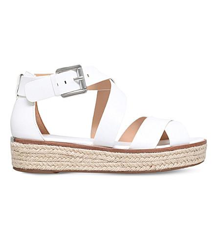 6b381738b4f8 MICHAEL MICHAEL KORS Darby leather flatform sandals (White