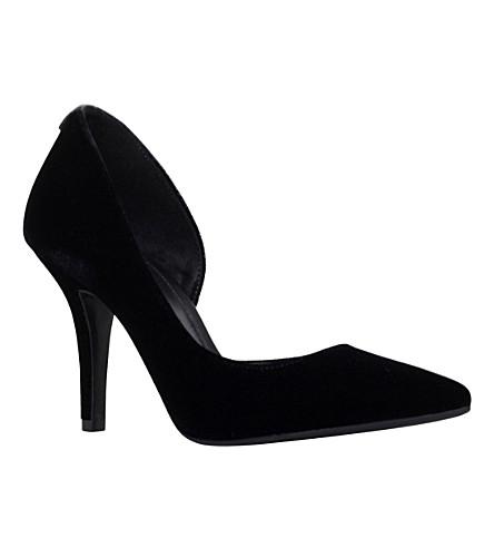 MICHAEL MICHAEL KORS Velvets Nathalie cutout velvet court shoes