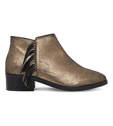 the best attitude e3f75 ecdfb KG KURT GEIGER - Shimmy metallic leather ankle boots ...