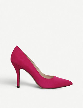 NINE WEST: Flagship pointed-toe suedette courts