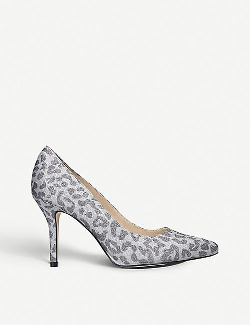NINE WEST: Flagship leopard-print glittered courts
