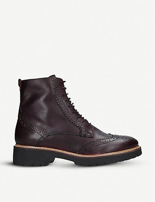 aa927bbd8f9e CARVELA Snail brogue-style leather boots