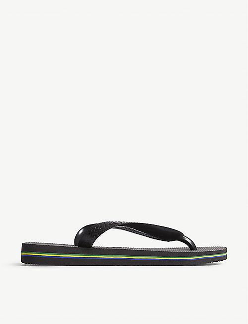 907dd7e39 HAVAIANAS Brazil logo rubber flip-flops