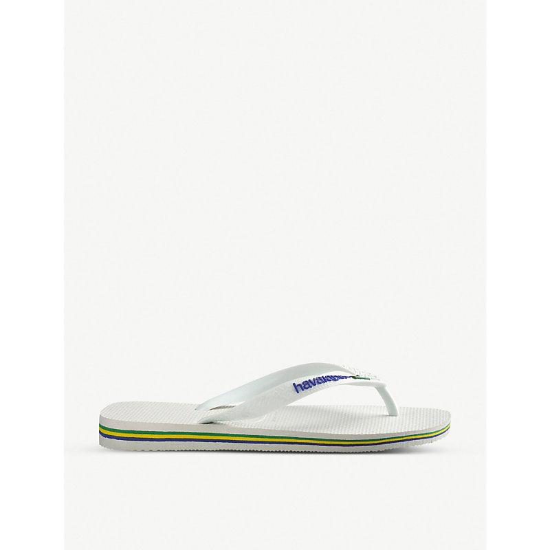HAVAIANAS   Havaianas Brazil Flip-Flops, Women'S, Size: 43080, White   Goxip