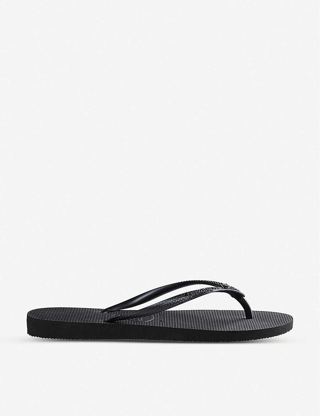 HAVAIANAS: Slim Crystal Glamour rubber flip-flops