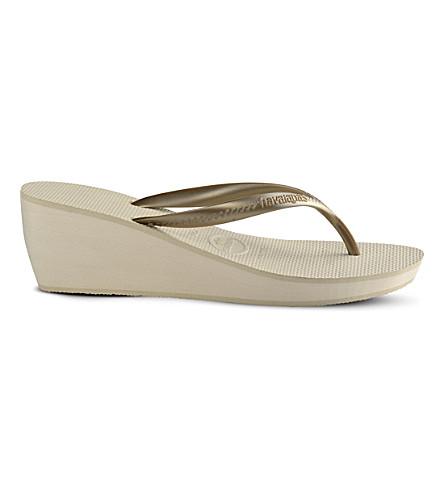 234fb6d6ff7 HAVAIANAS High Fashion wedge flip-flops (Beige