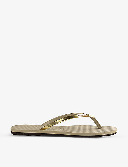 HAVAIANAS: You metallic rubber flip-flops