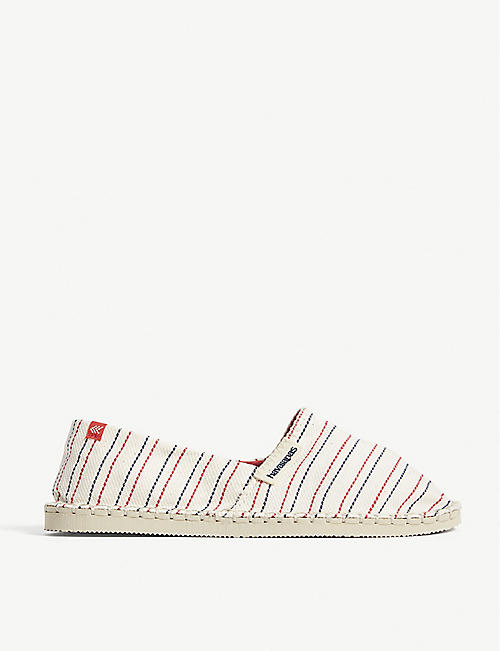HAVAIANAS Origine III striped canvas espadrilles