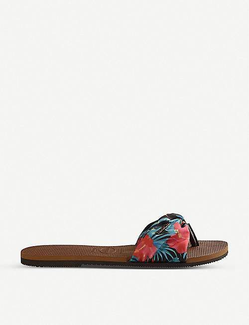 HAVAIANAS: You Saint Tropez floral-print sandals