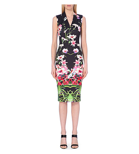 2028f94d6 TED BAKER - Jalita mirrored tropics midi dress