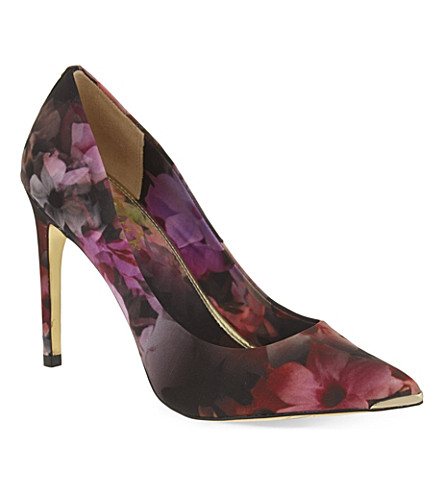 bbf6051a91fe TED BAKER Floral printed court shoes (Black