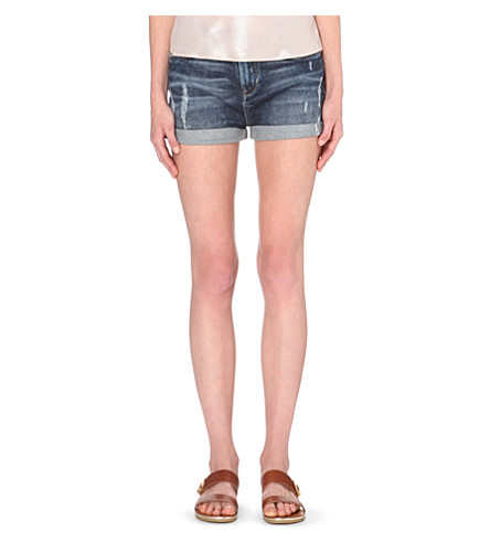 1e92731fe TED BAKER - Bromia distressed denim shorts