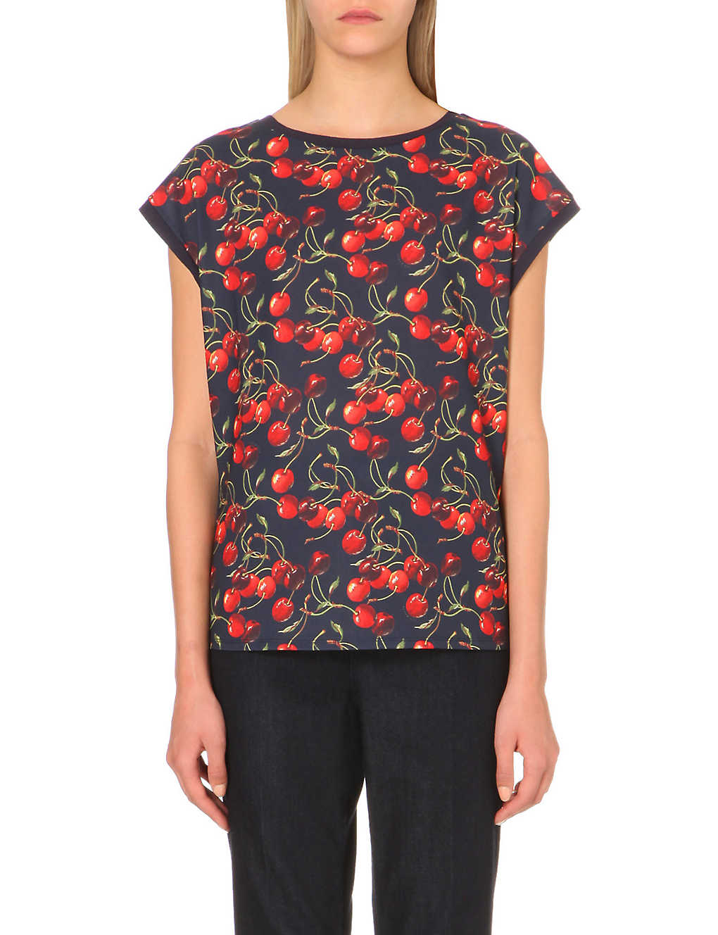 ba6ffaa5 TED BAKER - Vixxie cherry-print t-shirt | Selfridges.com