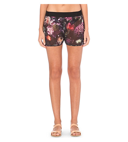 106f1775f TED BAKER Shadow Floral chiffon shorts (Mid+grey