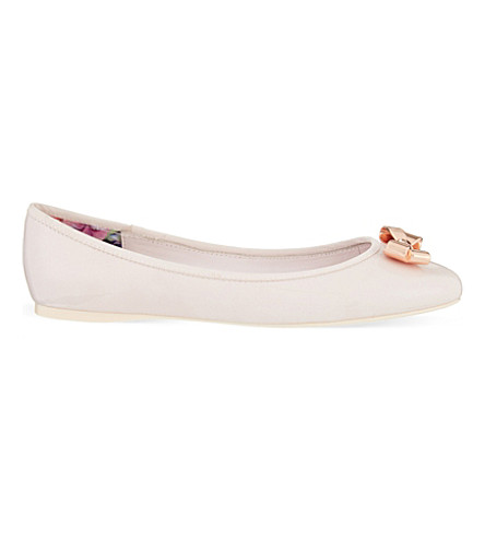 6d77acc5041d88 TED BAKER Bow ballerina pumps (Baby+pink