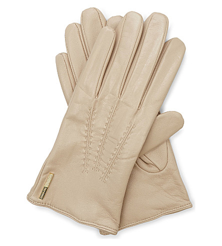 603aa50ff1bf8c TED BAKER Hollis leather gloves (Camel