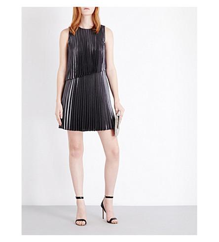 dae7804ea26 TED BAKER - Mey asymmetric pleated shift dress