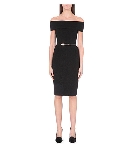 11f9313cbe3075 TED BAKER Bardot knitted bodycon dress (Black