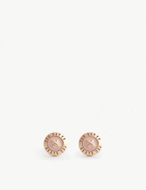 f93132adddc15 TED BAKER - Eisley enamel mini button earrings