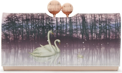 f8060ff8b TED BAKER - Swanee sparkling swan leather matinee purse