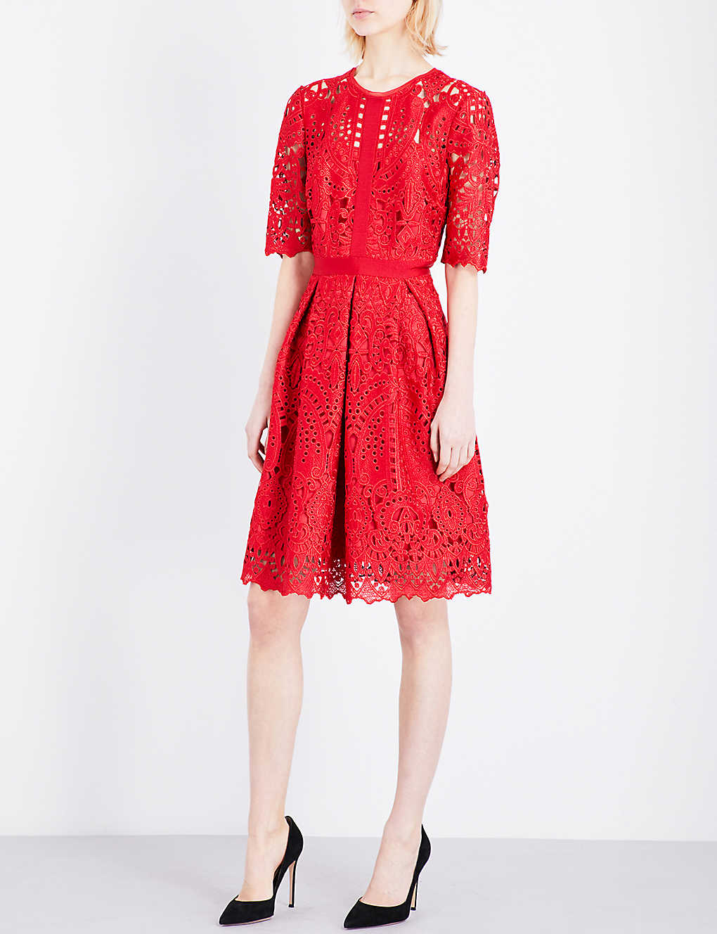 186c0e2da1a TED BAKER - Avas engineered lace dress   Selfridges.com