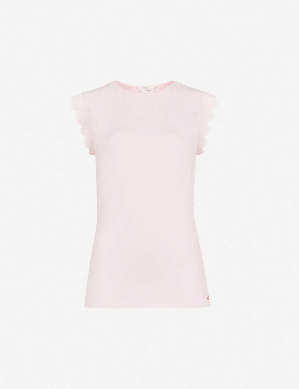 3daf640a5 TED BAKER - Elliah scallop-detail stretch-jersey T-shirt ...