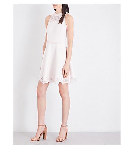 f1899211173f TED BAKER - Zaffron lace-detail neoprene dress