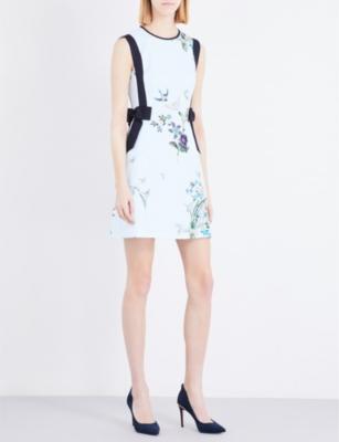 af496df57 TED BAKER - Spinela Spring Meadow crepe dress