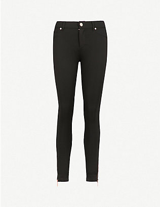 TED BAKER: Fioni skinny mid-rise cotton-blend trousers