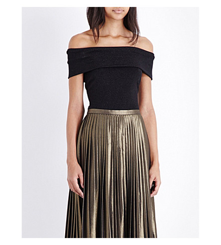11ba9e39935ae TED BAKER Off-the-shoulder knitted top (Black