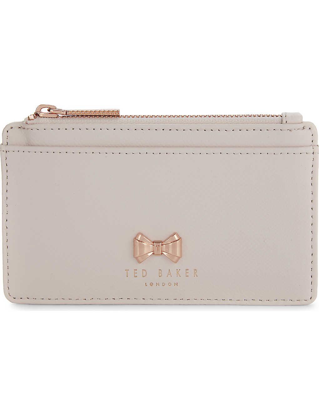 9b6be5c68 TED BAKER - Satinii mini bow leather purse | Selfridges.com