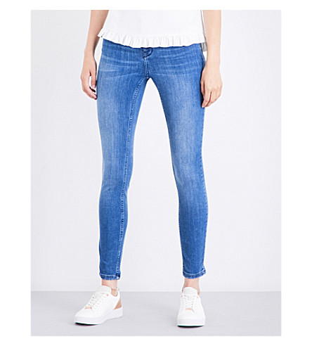 6de9964d50298 TED BAKER Aciee skinny mid-rise jeans (Mid+wash