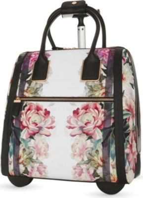 72c4a73da TED BAKER - Naoimie painted posie two-wheel suitcase 43cm ...