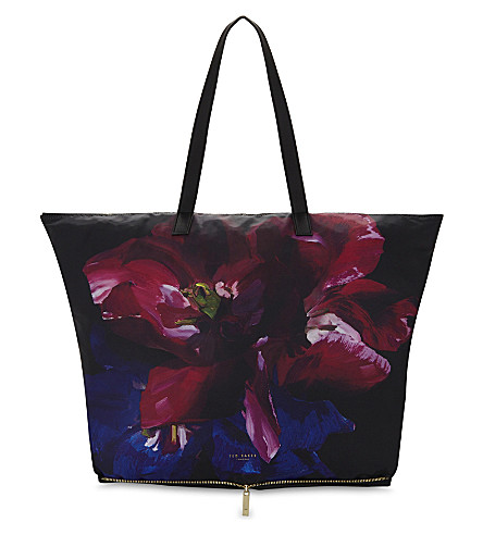 566f64247c06c3 ... TED BAKER Alene floral foldaway shopper bag (Black. PreviousNext