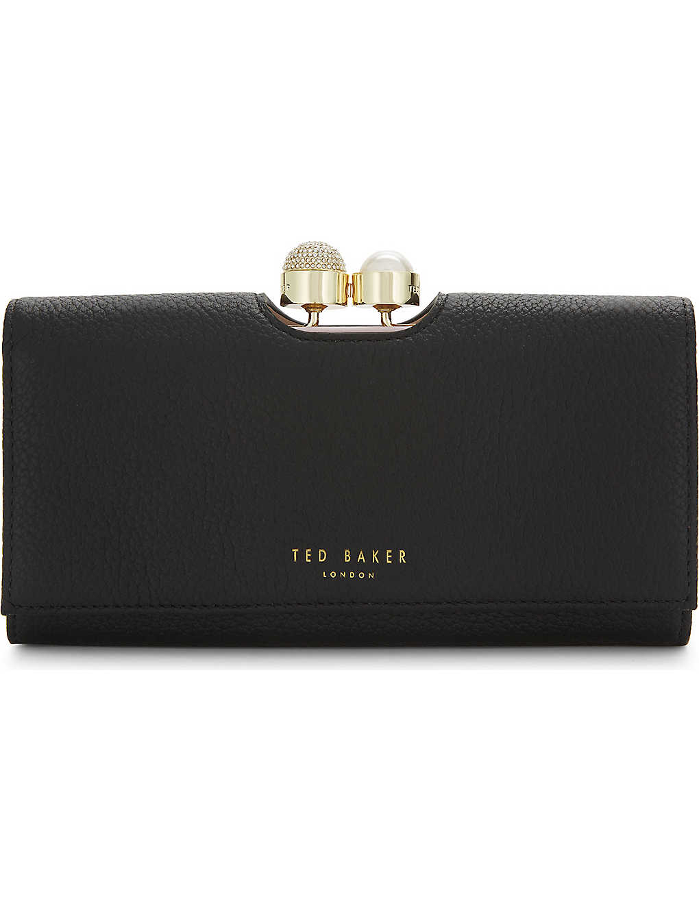 0725a829eb3 TED BAKER - Marta crystal and pearl leather matinee purse ...