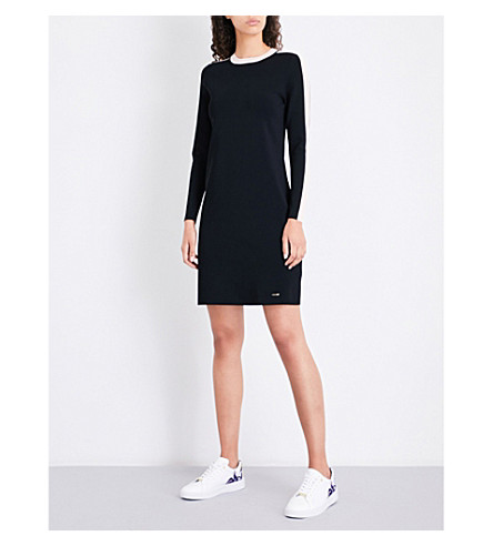 f7f2255e0 TED BAKER Colour by Numbers Palit striped knitted dress (Black