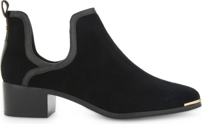 2152e2836ae0 TED BAKER - Twillo cutout suede ankle boots