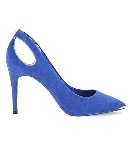 Ted Baker  Jesamin cutout suede courts
